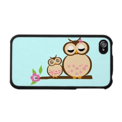 Cute Mom & Baby Owl